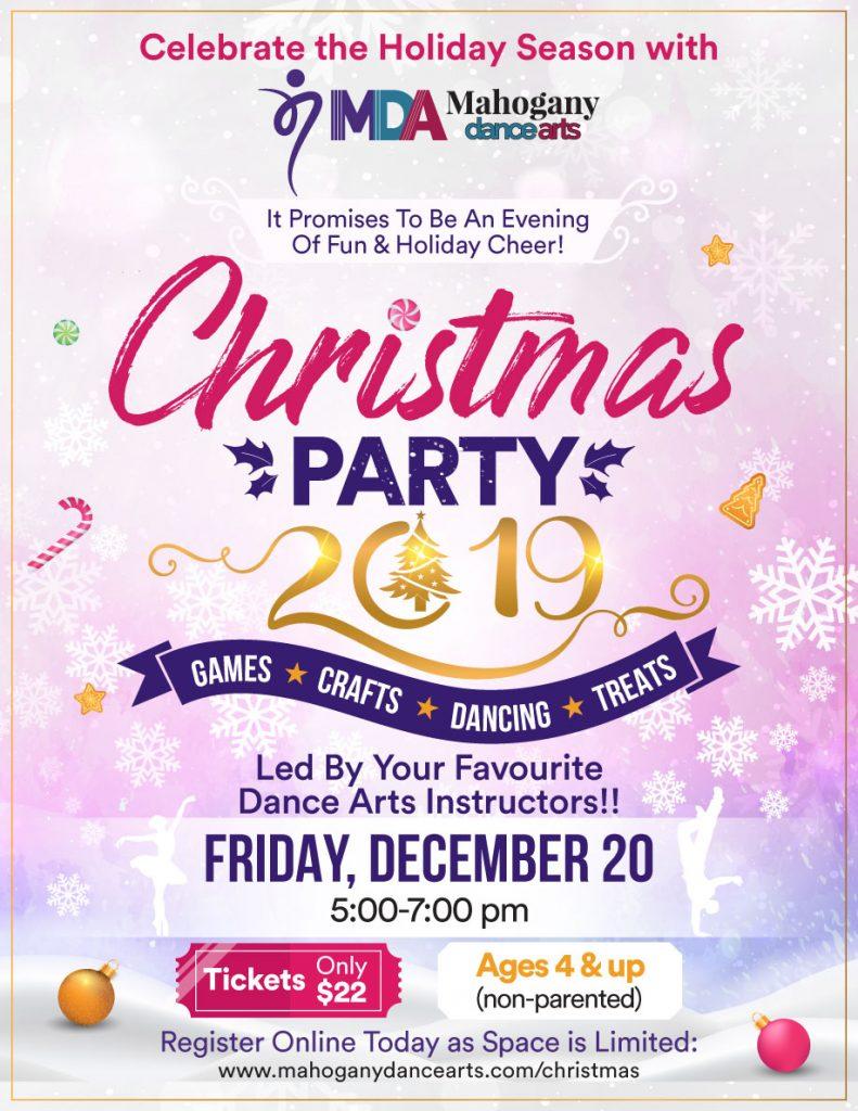 Mahogany Dance Arts Christmas Party 2019