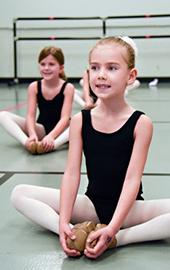 girl ballerinas in dance class